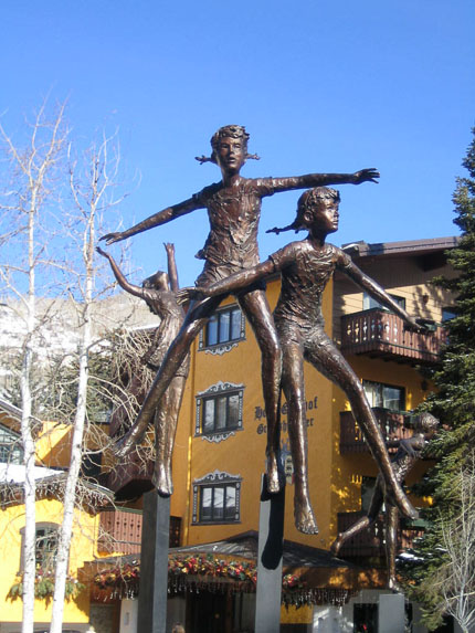 Childrens Fountain - Vail Colorado_
