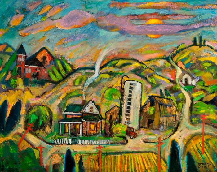 dsc-09-72 Small Town Farm 40x50