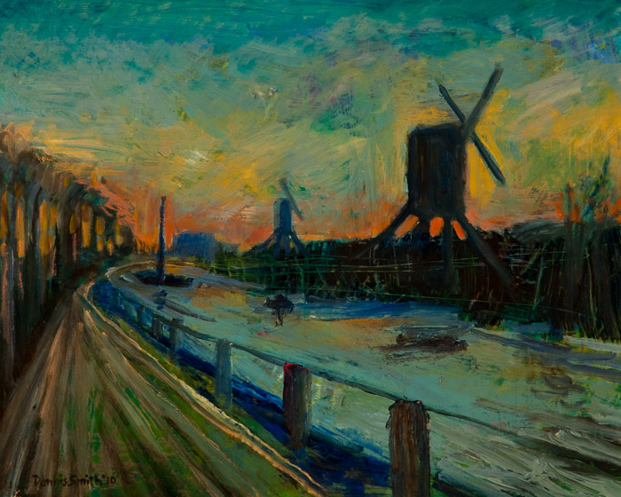 dsc-10-24 Outside Amsterdam, at Sunset 16x20