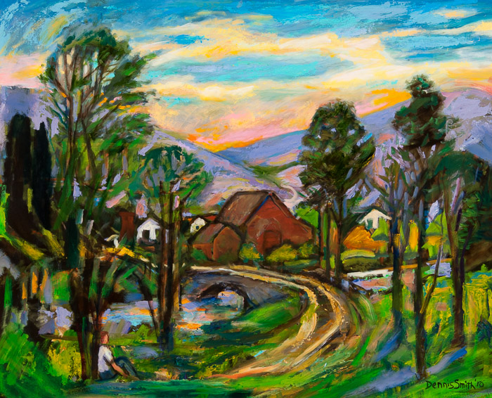 dsc-10-33 The Road Through Town 24x30_