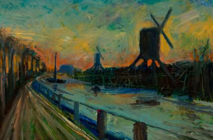 Outside Amsterdam, at Sunset
