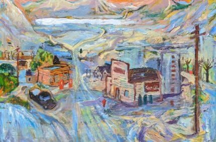 Main Street In Winter